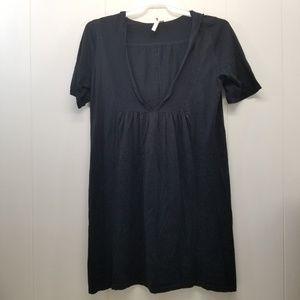 Pure Jill M Sweater Dress Hoodie Hood V Neck